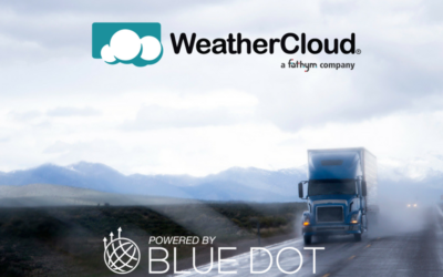 Blue Dot & WeatherCloud Partner to Bring Route-Centric Weather Forecasting to Commercial Trucking
